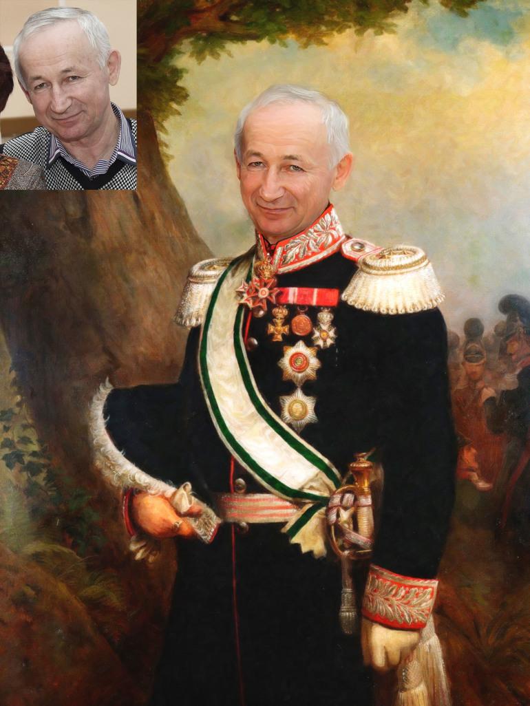 Где заказать исторический портрет по фото на холсте в Пензе?