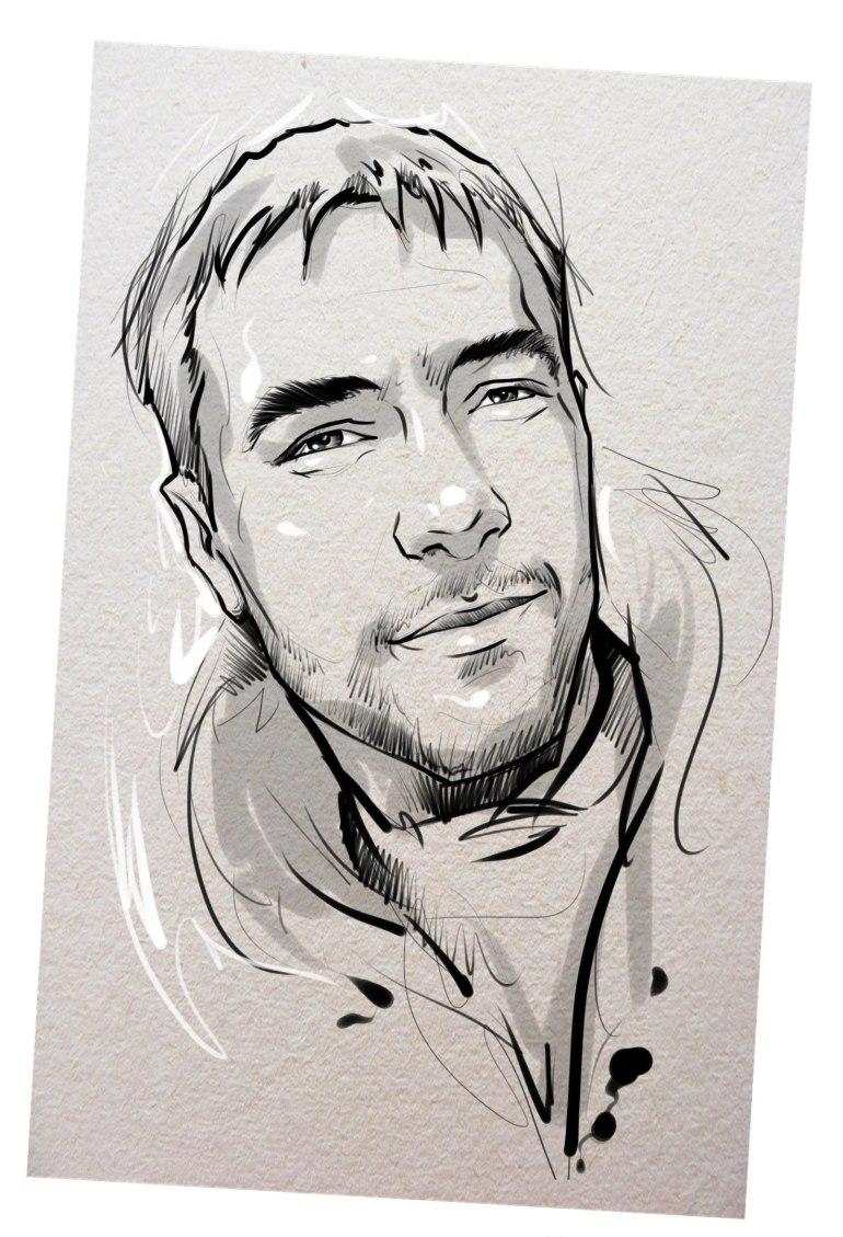 Портрет карандашом любимому мужу в Пензе…