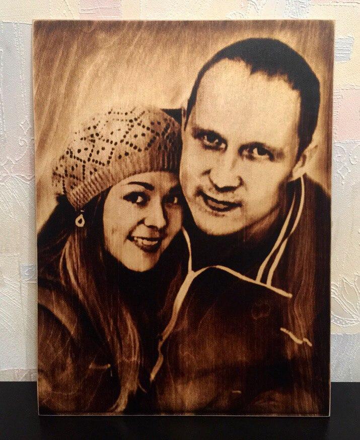 выжигание портретов по дереву на заказ в Пензе