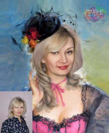 Заказать арт портрет по фото на холсте в Пензе…