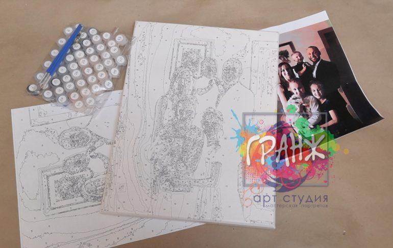 Картина по номерам по фото, портреты на холсте и дереве в Пензе